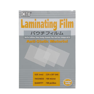 CBE A4 Laminating Film 100 Micron - OfficePlus