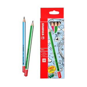 Stabilo 2B Colored Pencils Trio + sharpener (RM 7.90 - RM 8.90/box) - OfficePlus