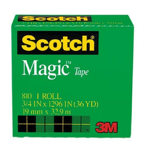 3M 810 Scotch Magic Tape 19mm x 32.9m - OfficePlus.com.my