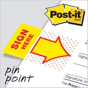 3M Post-it Flags 680-9 - Sign Here - OfficePlus.com.my