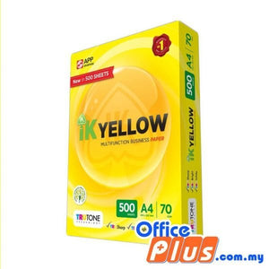 IK Yellow A4 Copier Paper 70gsm – 500 sheets - RM10.50/Ream - 1 ream - OfficePlus.com.my