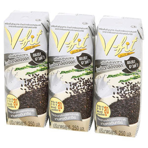 V-fit Germinated Brown Rice Milk with Black Sesame (250ml x 3) - (RM 9.30 - RM 9.90/pack) - OfficePlus