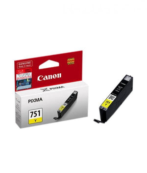 Canon Original Genuine Ink Inkjet Cartridge CLI-751 Y Yellow - OfficePlus