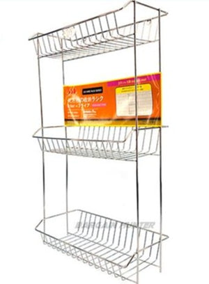 Square Rack Stainless Steel 3 Tier R3063SS - OfficePlus