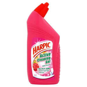 Harpic Active Cleaning Gel Wildflowers Toilet Cleaner 500ml - OfficePlus.com.my