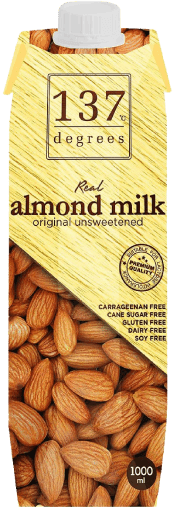 137 Degree Almond Milk Unweetened (1000ml) - OfficePlus