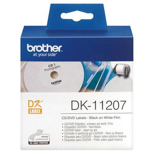 Brother DK11207 CD/DVD Label - 58mm x 58mm - OfficePlus