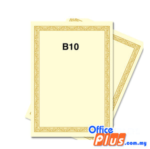Lucky Star A4 Gold Stamping Certificate B10 160gsm - 100 sheets - OfficePlus