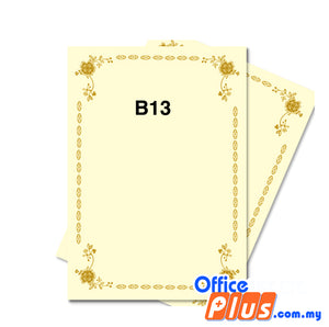 Lucky Star A4 Gold Stamping Certificate B13 160gsm - 100 sheets - OfficePlus
