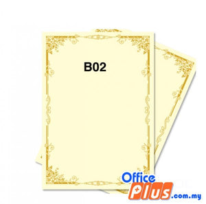 Lucky Star A4 Gold Stamping Certificate B2 160gsm - 100 sheets - OfficePlus