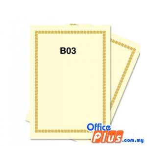Lucky Star A4 Gold Stamping Certificate B3 160gsm - 100 sheets - OfficePlus