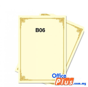 Lucky Star A4 Gold Stamping Certificate B6 160gsm - 100 sheets - OfficePlus