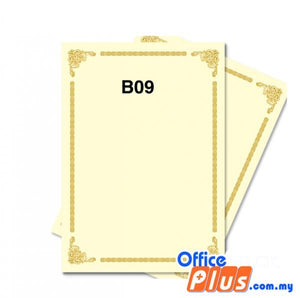 Lucky Star A4 Gold Stamping Certificate B9 160gsm - 100 sheets - OfficePlus