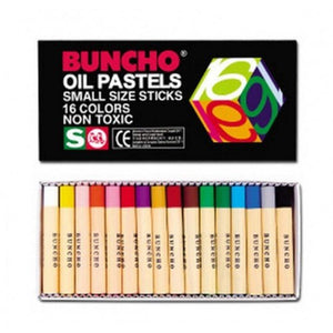 BUNCHO Oil Pastels Small Size Sticks – 16 colors - OfficePlus