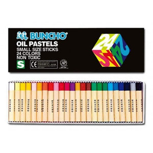 BUNCHO Oil Pastels Small Size Sticks – 24 Colors - OfficePlus