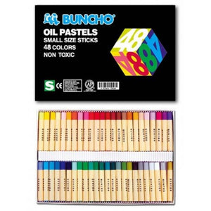 BUNCHO Oil Pastels Small Size Sticks – 48 Colors - OfficePlus