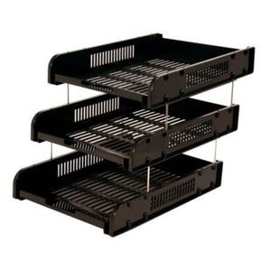 CBE 8012-3 ABS DOCUMENTARY TRAY-BLACK - OfficePlus.com.my