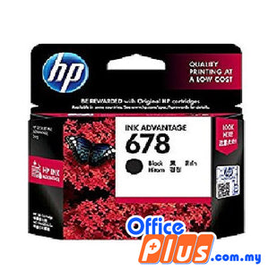 HP Original Ink Cartridge 678 (CZ107AA) - Black - OfficePlus
