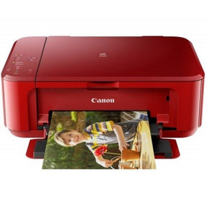 Canon Pixma MG3670 - Red/A4/AIO/Duplex/Cloud Print/Wireless/ Color Home/Photo Inkjet Printer - OfficePlus