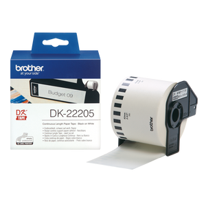 Brother DK22205 Continuous Length Paper Tape - 62mm x 30.48m - OfficePlus