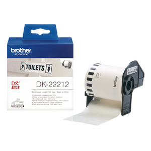 Brother DK22212 Black on White Continuous Length Film - 62mm x 15.24m - OfficePlus