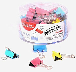 DingLi COLOR BINDER CLIP 25MM – DL69404 ROUND PACK - OfficePlus