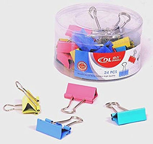 DingLi COLOR BINDER CLIP 32MM – DL69403 ROUND PACK - 24PCS - OfficePlus