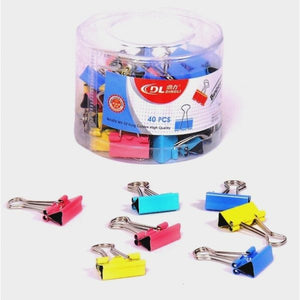 DingLi COLOR BINDER CLIP 19MM – DL69405 ROUND PACK - OfficePlus.com.my