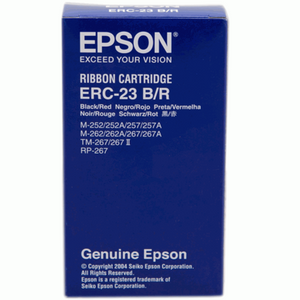 Epson ERC 23 Ribbon - Black/Red (Item No: EPS ERC 23 B/R) - OfficePlus