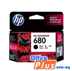 HP Original Ink Cartridge 680 (F6V27AA) - Black - OfficePlus