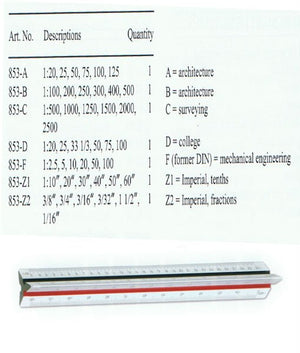 Faber Castell Scale Ruler 853-Type A - OfficePlus.com.my
