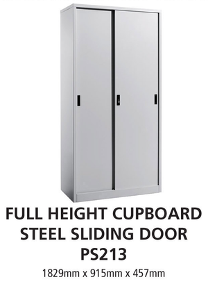 Full Height Cupboard Steel Sliding Door Office Filling Cabinet PS213 - OfficePlus.com.my