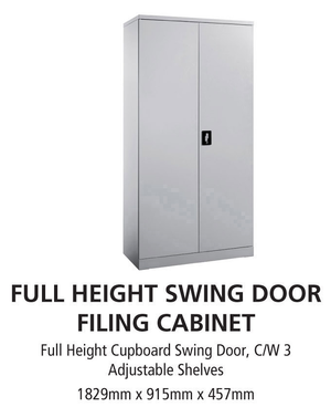 Full Height Swing Door Filing Cabinet - OfficePlus.com.my