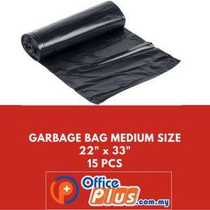 "OFFICEPLUS GARBAGE BAG MEDIUM SIZE 22""X33"" 15PCS - OfficePlus.com.my"