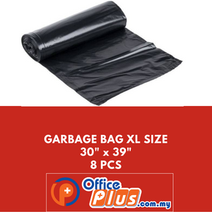 "OFFICEPLUS GARBAGE BAG XL SIZE 30""X39"" 8PCS - OfficePlus.com.my"