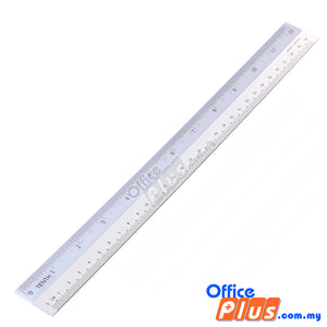 "High Class Plastic Straight Ruler 12""/30cm - OfficePlus"