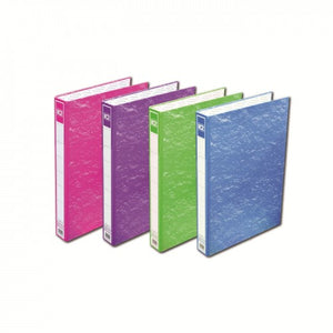 K2 8925 Fancy Hard Cover Ring File (Mix Colour) / 1 box (48 pcs) - OfficePlus