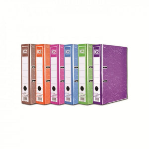 K2 8997 Fancy Hard Cover Arch File (Mix Colour) / 1 box (24 pcs) - OfficePlus