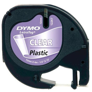 Dymo LetraTag Labelling Tape (12mm x 4m) - OfficePlus