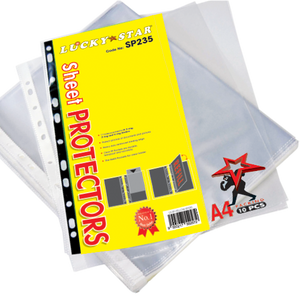 Lucky Star A4 Sheet Protector 10'S (RM 0.95 - RM 1.20/pack) - OfficePlus
