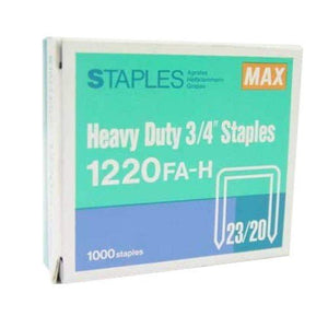 MAX Staples 1220FA-H Bullet - 3/4 - OfficePlus