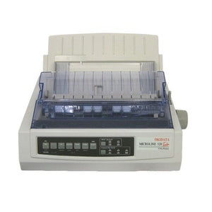 OKI ML320T Plus 9 pin Dot Matrix Printer c/w Power Cord & USB Cable - OfficePlus