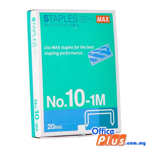 MAX Staples No.10-1M - 20 boxes - OfficePlus