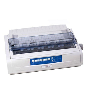 Oki ML721 Plus 9 Pin c/w Power Cord & USB Cable Dot Matrix Printer - OfficePlus