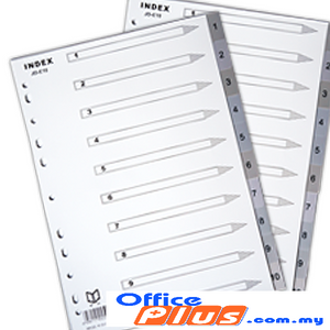 PP INDEX DIVIDER 1-10 - OfficePlus