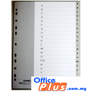 PP INDEX DIVIDER A-Z - OfficePlus.com.my