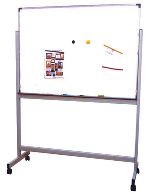 Magnetic Whiteboard Single Side with Alum. Frame c/w Mobile Stand - 120cm x 180cm - OfficePlus