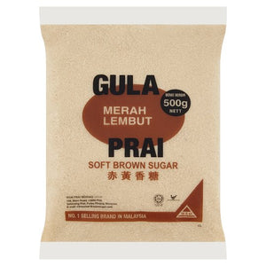 Gula Prai Soft Brown Sugar 500g - OfficePlus