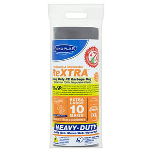 SEKOPLAS ReXTRA HDPE Garbage Bags Extra Large (10pcs) - OfficePlus.com.my