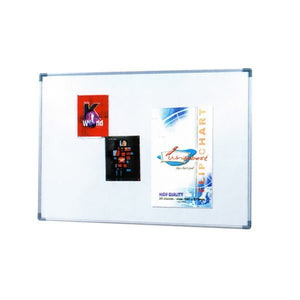 Soft Notice Board with Aluminium Frame - 45cm (H) x 60cm(W) - OfficePlus.com.my